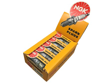 Box of 10 NGK Spark Plugs For Motorcycle