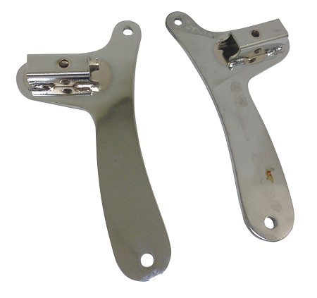 "Chrome Sissy Bar Side Plate Brackets (8"" Length)"