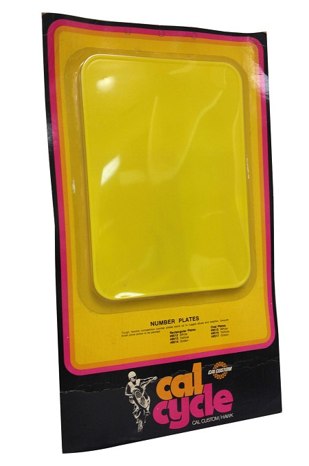 Cal Cycle Number Plate - Yellow (Pack of 3)