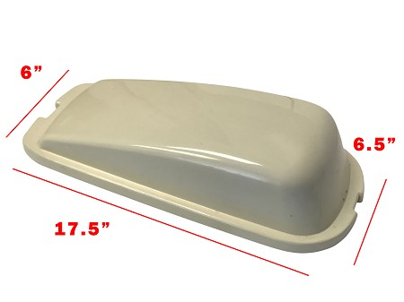 Saddle Bag Lid for Harley-Davidson (Creme)