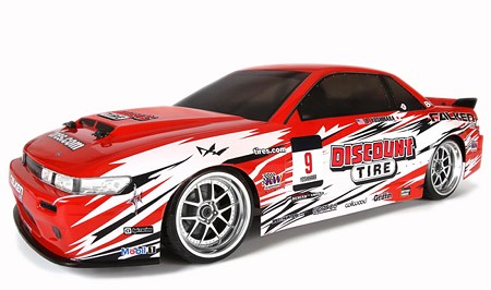 HPI E10 Drift 1/10 RTR Nissan Car Discount Tire - Brushed