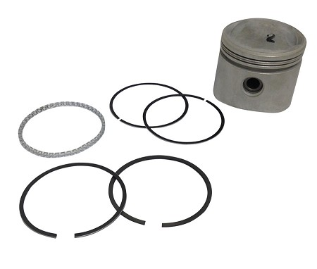 "Low Compression Piston Kit with Rings for Harley-Davidson Big Twins 74"" (1941 and later)"