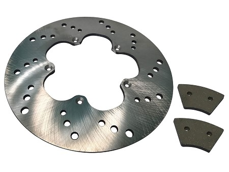 Set of Front Brake Pads & Rotor For Harley-Davidson Sportster & Super Glide (1974-78)