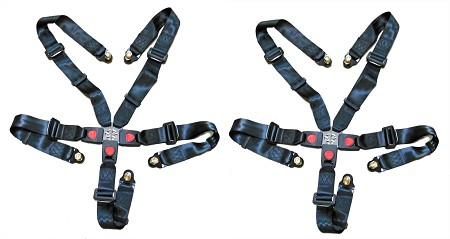 Set of 2, 5 Point Seat Belt & Shoulder Harness (6.000.354)