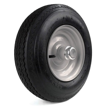 480-8 LRB Tire and Wheel with 1 in. Bearing for Log Splitter/Trailer