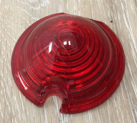 Red 2'' Zeppelin Bullet Light Replacement Lens