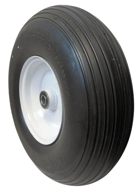 400-6 Flat Free Rib Tire with Rim (5/8'' Bearing)