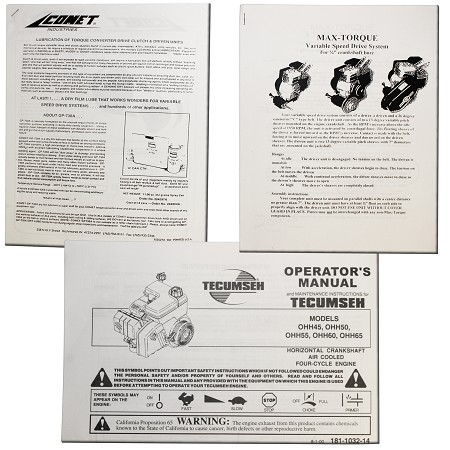 Tecumseh / Max-Torque / Comet Manual Set