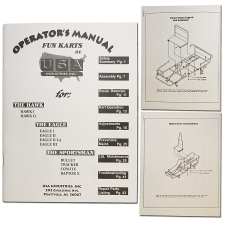 USA Industries Fun Kart Manual