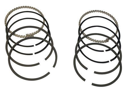 "Set of Two: Piston Ring Set with Chrome Top Ring For Harley-Davidson 74"" & 80"" FLH (1955+)"