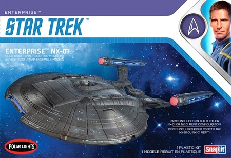 Polar Lights Star Trek NX-01 Enterprise (Snap) 1:1000 Scale Model Kit