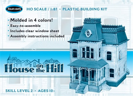 Polar Lights House on the Hill 1:87 Scale Model Kit
