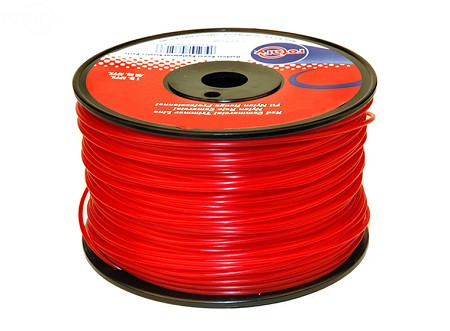 Trimmer Line .130 1Lb Spool Red Commercial