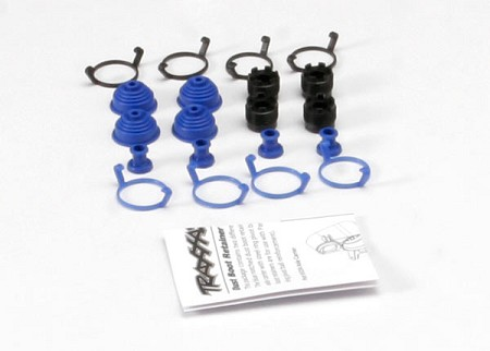 Pivot Ball Caps/ Dust Boots/ Dust Plugs/ Boot Retainers - Black & Blue - For Traxxas