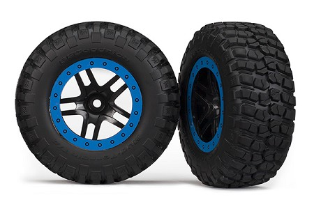 BFGoodrich® Mud-Terrain Tires & Blue Beadlock Wheels, Assembled, for Traxxas