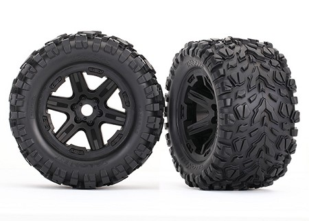 Talon EXT Tires & Wheels, Assembled, 17mm Splined for Traxxas (2)