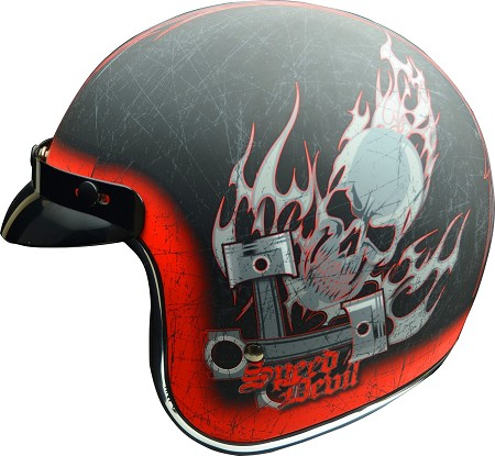"Vega X380 Open Face Helmet - ""Speed Devil"""
