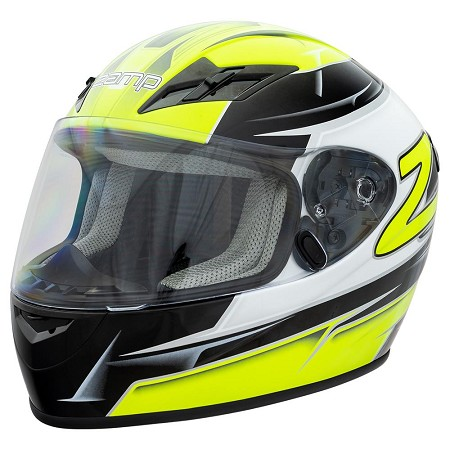 Zamp FS-9 Helmet - Green / Black Graphic