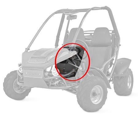 Passenger Seat for ASW Carbide 150cc Go Kart   C14169   American ...