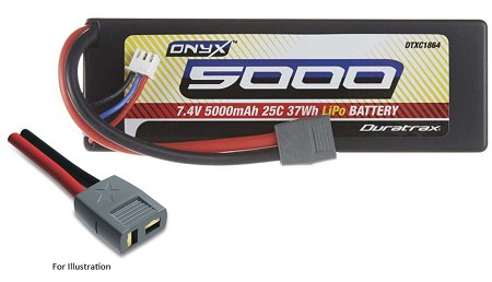 Duratrax Onyx 2S 7.4V 5000mAh 25C Hard Case LiPo Battery with Star Connector