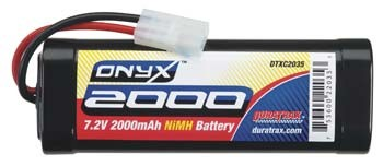 Duratrax Onyx 7.2V 2000mAh NiMH 6-Cell Battery Pack Stick with Standard Connector