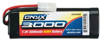 Duratrax Onyx 7.2V 3000mAh NiMH 6-Cell Battery Pack Stick with Standard Connector