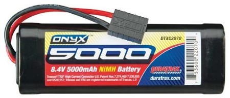 Duratrax Onyx 8.4V 5000mAh NiMH 7-Cell Battery Hump Pack with Traxxas Connector
