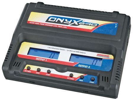 Duratrax Onyx 240 AC/DC Dual Charger with LCD