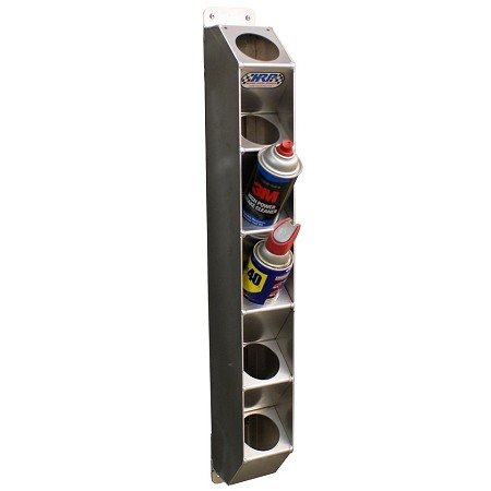 Spray Can Holder, Holds 6 Aerosol Cans (Aluminum)