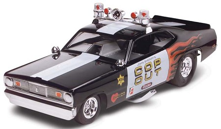 """Cop Out"" Plymouth Duster (1/24 Scale) by Monogram Model Cars #854093"