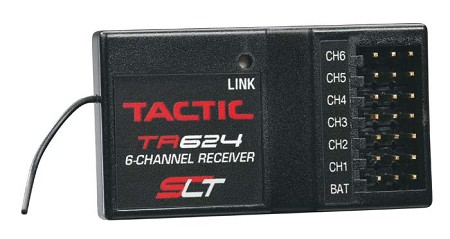 Tactic TR624 6-Channel 2.4GHz SLT Receiver