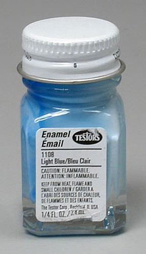 Testors Light Blue Paint (1/4 oz)