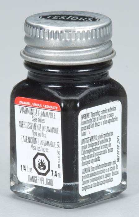 Testors Semi-Gloss Black Paint (1/4 oz)