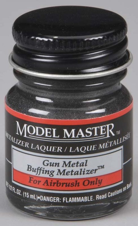 Testors Model Master Gunmetal Buff Metallic (1/2 oz)