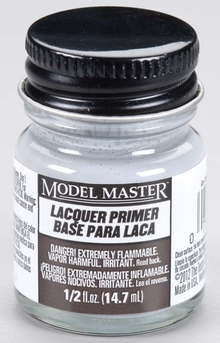 Testors Model Master Gray Sandable Lacquer Primer (1/2 oz)