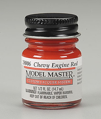 Testors Model Master Chevy Engine Red Paint (1/2 oz)