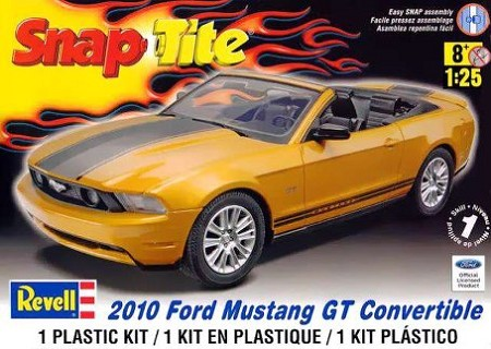 '10 Ford Mustange Convertable (1/25 Scale) SnapTite Car from Revell Models #851963