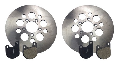 Brake Rotor Pad Set For Harley-Davidson Sportster, Superglide (1977-83)