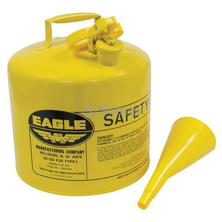 Metal Safety Diesel Can - Eagle 5 Gallon With Funnel