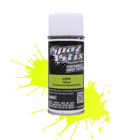 Yellow Fluorescent Aerosol Paint, 3.5oz Can