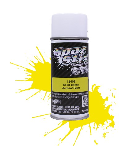 Solid Yellow Aerosol Paint, 3.5oz Can