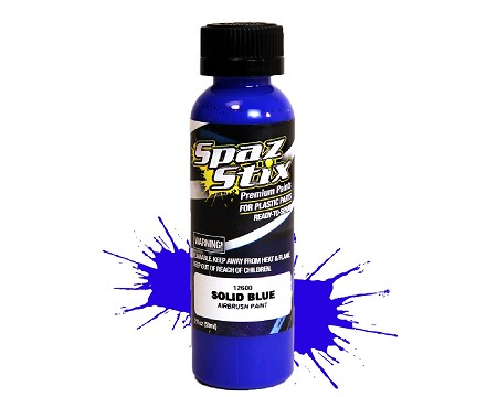 Solid Blue Airbrush Ready Paint, 2oz Bottle