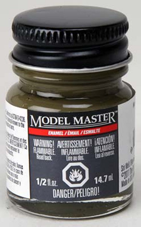 Testors Model Master No. #8 Olive Drab Semi-Gloss Paint (1/2 oz)
