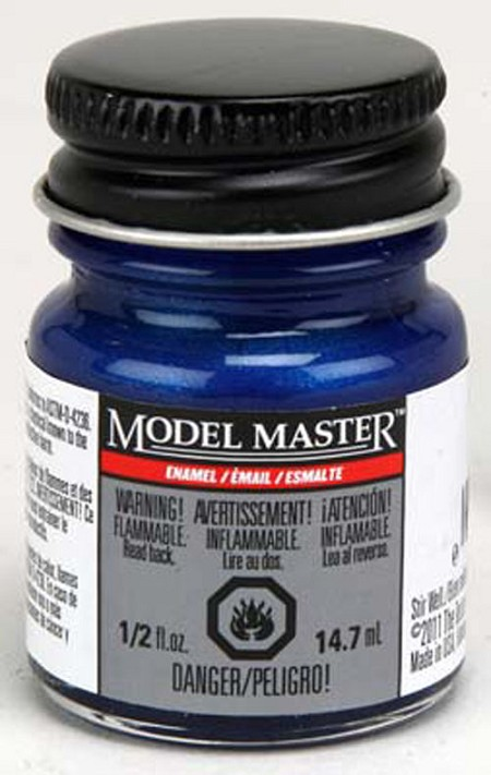 Testors Model Master Pearl Blue Gloss Paint (1/2 oz)