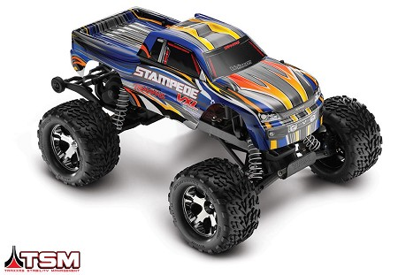 Stampede VXL 1/10 Scale Monster Truck Blue RTR, w/TSM, Battery and Charger - Brushless