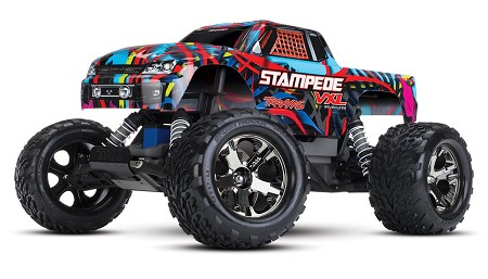 Stampede VXL 1/10 Scale Monster Truck Hawaiian Edition, RTR W/ TSM, Battery and Charger - Brushless