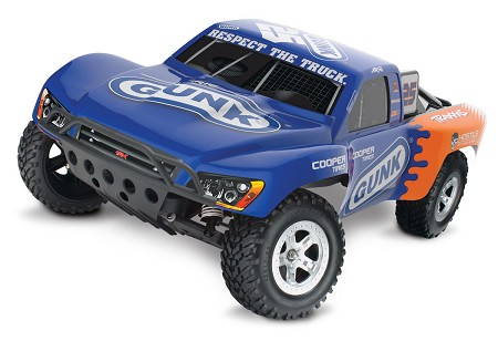 Slash 1/10 2WD Gunk RTR w/2.4GHz, iD Battery & 4amp Peak DC Charger - Brushed