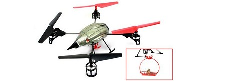 WLToys V999 Quadcopter UFO with Rescue Set RTF 2.4G